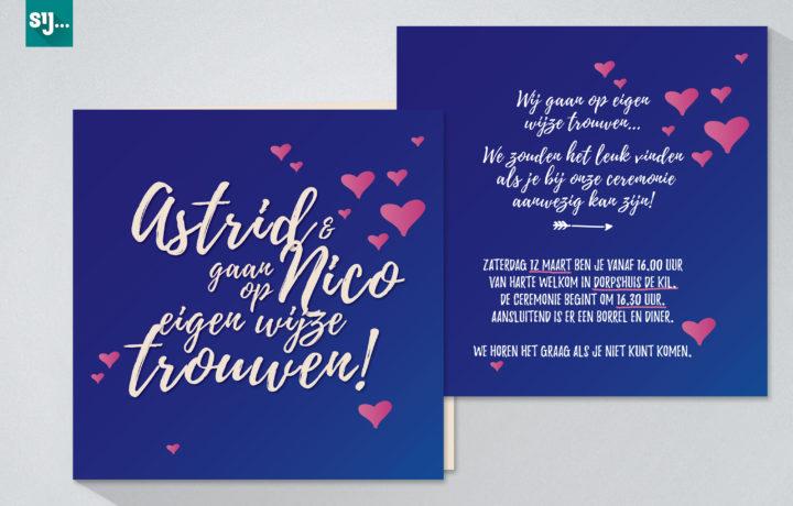Sij Design_Kaarten_Astrid en Nico_Front