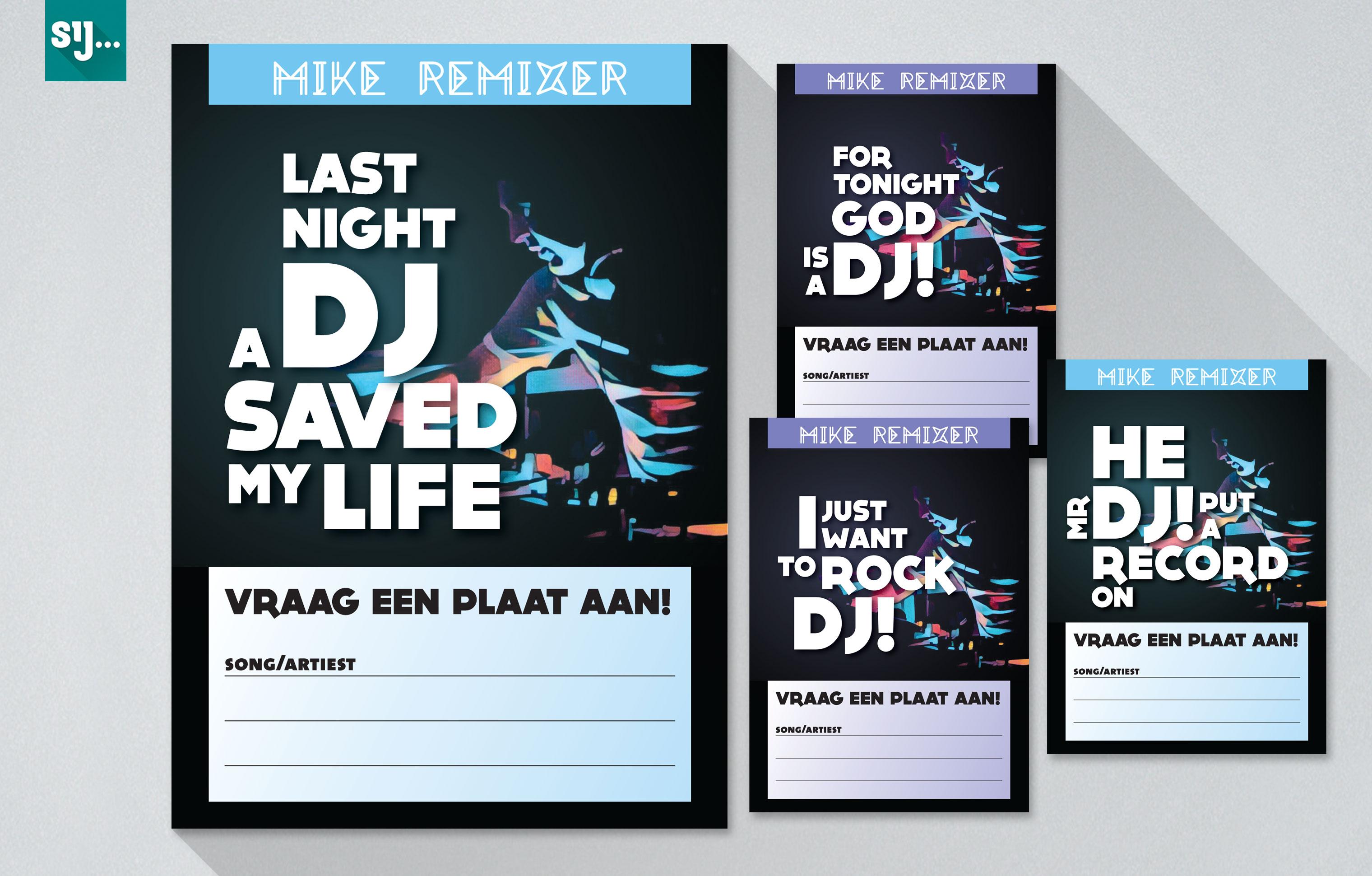Sij Design_Muziek_Verzoekkaartjes